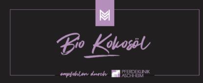 Bio Kokosöl von Malou in Kooperation mit Pferdeklinik Aschheim, Label