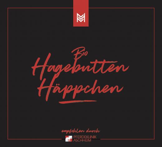 Bio Hagebutten Häppchen von Malou in Kooperation mit Pferdeklinik Aschheim, Label