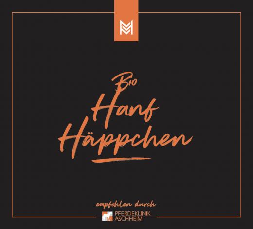 Bio Hanf Häppchen von Malou in Kooperation mit Pferdeklinik Aschheim, Label