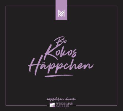 Bio Kokos Häppchen von Malou in Kooperation mit Pferdeklinik Aschheim, Label