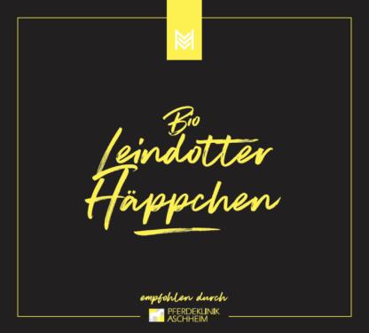 Bio Leindotter Häppchen von Malou in Kooperation mit Pferdeklinik Aschheim, Label