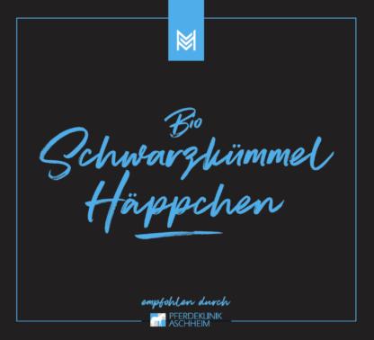 Bio Schwarzkümmelöl von Malou in Kooperation mit Pferdeklinik Aschheim, Label