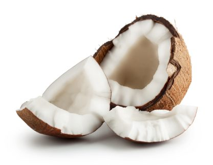 Frische Bio Kokosnuss - die Basis für die Bio Kokoshäppchen für Pferde von Malou